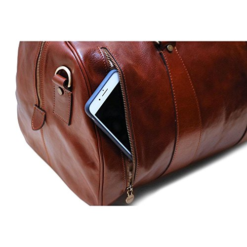 Super Tuscan Leather Duffle Travel Bag Model #1 by Floto (Image #5)
