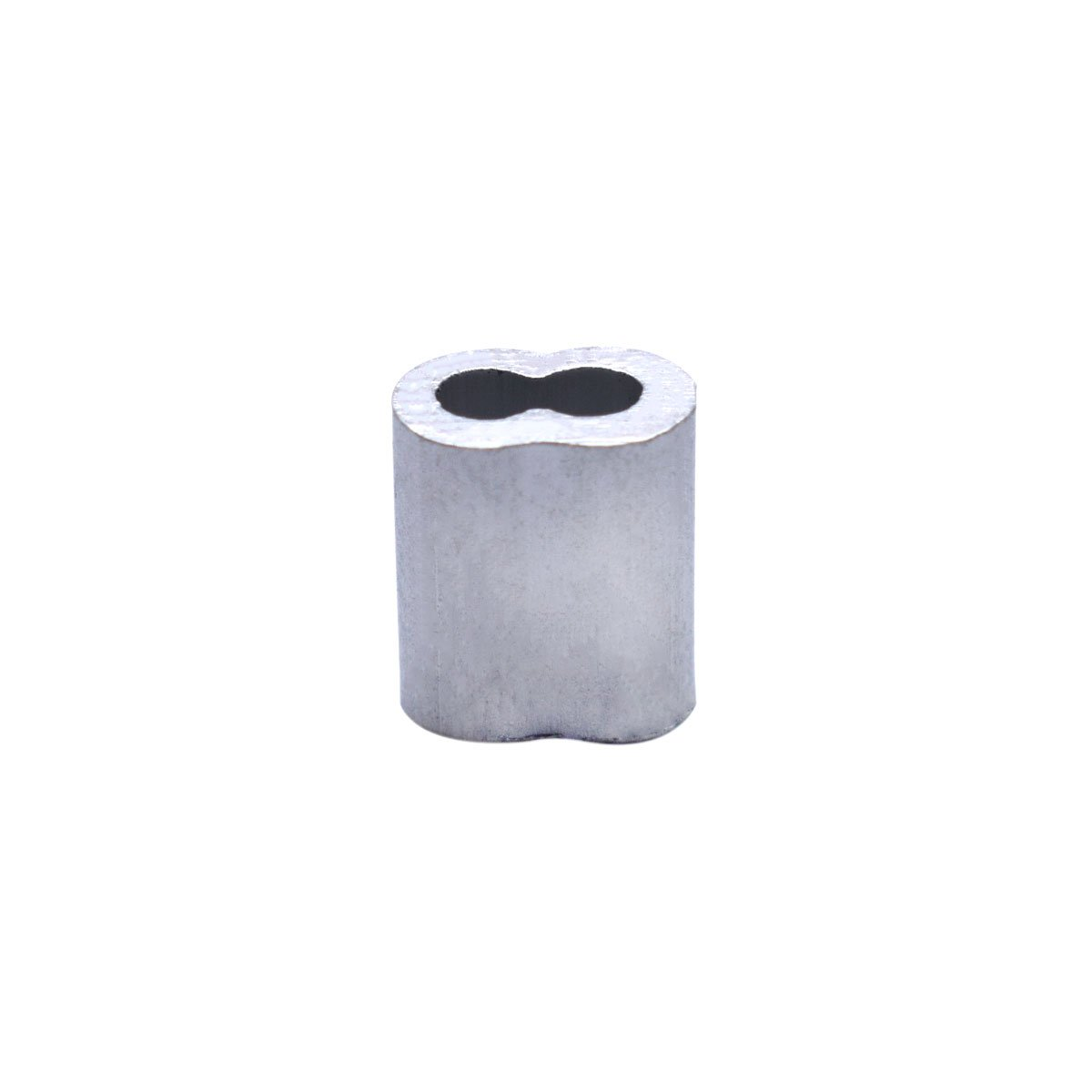 Ghiera doppia in alluminio per manica crimpatrice per cavi da 2 mm. Confezione da 100 pezzi KEEJEA 2-2.0