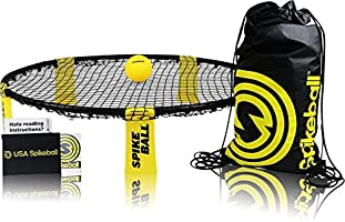 Spikeball Game Set - Played Outdoors, Indoors, Lawn, Yard, Beach, Tailgate, Park - Includes 1 Ball, Drawstring Bag, and...