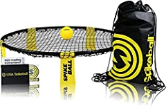 As Seen On Shark Tank TV This version of Spikeball comes with 4 balls. Spikeball is an intense new game that is played 2 on 2. It's sort of a funky combo of four square and volleyball. A taut Hula Hoop-sized net is placed at ankle level betwe...