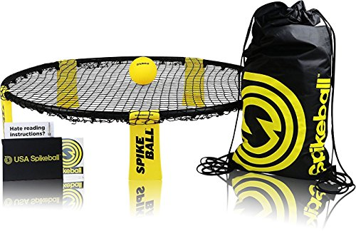 (Spikeball Game Set - Played Outdoors, Indoors, Lawn, Yard, Beach, Tailgate, Park - Includes 1 Ball, Drawstring Bag, and Rule Book - Game for Boys, Girls, Teens, Adults, Family)