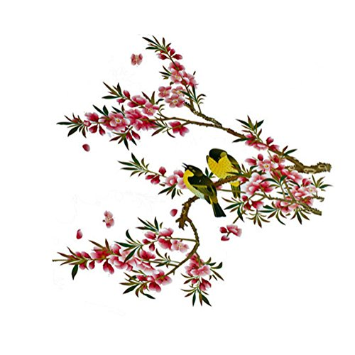 Baggal Home Removable Beautiful Flower Tree Birds Wall Sticker Vinyl Home Decor Art Decals