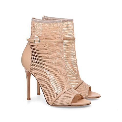 XUE Femmes Chaussures Mesh Confort Sandales Chaussures de Marche Talon Stiletto Pointu Talon Mariage/Soire/Soire/Robe Formelle Business Work Wedding (Couleur : Une, Taille : 44) Une