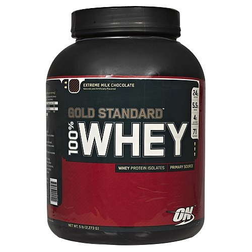 100% Whey Gold Standard, Extreme Milk Chocolate, 5 lb by Optimum Nutrition