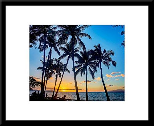 Sunset - Maui Hawaii - Framed Scenic Art Print on Sale (20