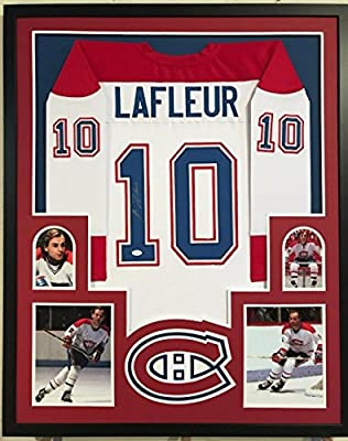 Framed Guy Lafleur Autographed Signed Montreal Canadiens Jersey Jsa Coa