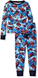 The Children's Place Big Boys' Long Sleeve Top and Pants Pajama Set, Motorcycle/Happy Blue 65510, 14