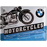 BMW Motorcycles Timeline large embossed steel