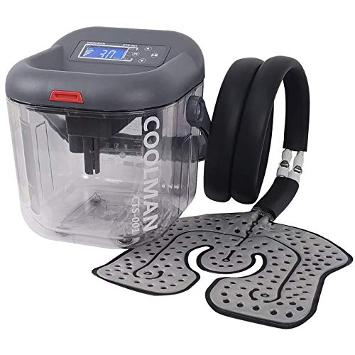 COOLMAN Cold Therapy System Cryotherapy Machine Portable Continuous Ice Pack Flexible Universal Pad for Knee, Shoulder, Ankle, Cervical, Back, Leg and Hip (Best Ice Therapy Machine)