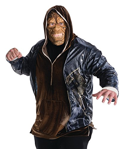 Rubie's Costume Co Men's Suicide Squad Plus Deluxe Killer Croc Costume -