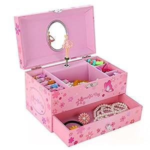 songmics ballerina musical jewelry box girls
