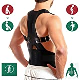Thoracic Back Brace Posture Corrector- Magnetic Lumbar Back Support Belt-Back Pain Relief, Improve Thoracic Kyphosis, for Lower and Upper Back Pain Men & Women (Black, XX-Large)