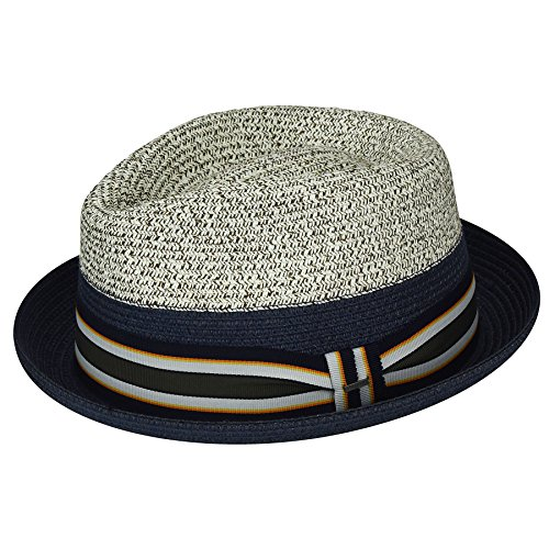 Bailey of Hollywood Mens Rokit Braided Fedora Trilby Hat with Stripe Band