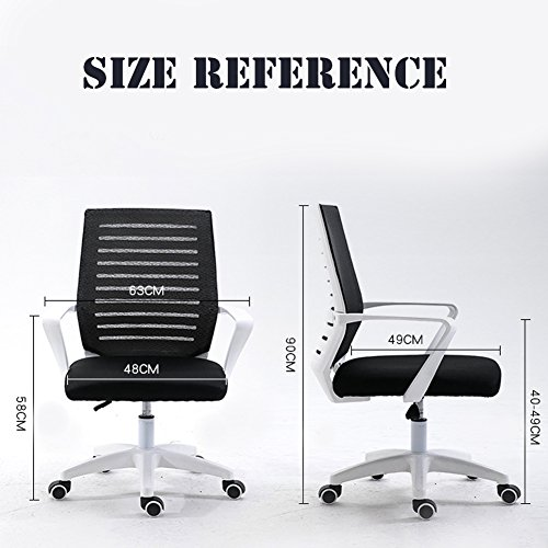 YI RUI TE GU SI Simple Modern Design Mesh Home Conference Office Staff Dormitory Student Lift Swivel Chair(Black) (Conference Swivel)
