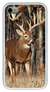 iPhone 4s Cases, iPhone 4s Case - Forest Elf Elk Custom Design TPU Case Cover for iPhone 4/4s White