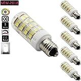 Bqhy T4 E11 LED Bulb, JD T4 Mini Candelabra LED E11 Base 110V 4Watt, 30W Equivalent E11 T4 Halogen light bulb, JD Type E11 Dimmable LED White 6000K (Pack of 5)