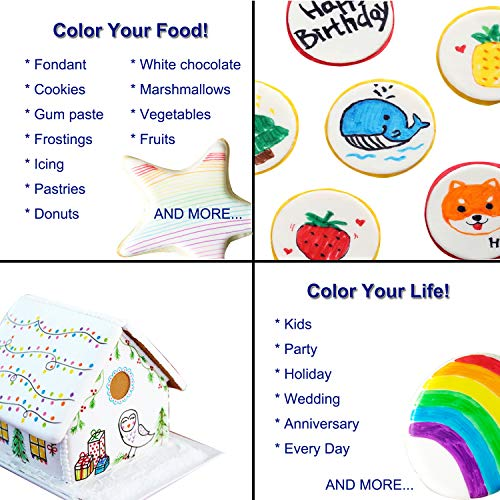 Food coloring Pens, 11Pcs Double Sided Food Grade and Edible Marker ...