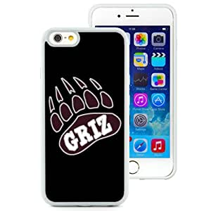 Fashion And Unique iPhone 6 Cover Case NCAA Big Sky Conference Football Montana Grizzlies 2 Protective Cell Phone Hardshell Cover Case For iPhone 6 4.7 Inch TPU White Phone Case
