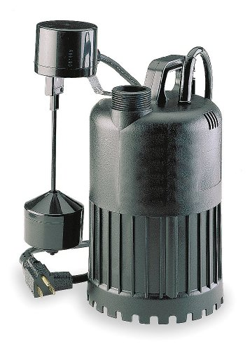 4HU69 Dayton 1-1//2 NPT Sump Pump 10 ft. 1//2 HP