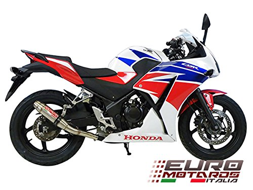 Honda CBR 300R GPR Exhaust Systems Deeptone Steel Silencer Racing