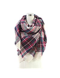 Changeshopping Fashion Women Long Soft Cotton Print Scarves Shawl Wrap Scarf (B)