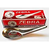 12x Chinese Thai Japanese Soup/rice/spoons By Zebra High Quality Stainless Steel