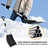 Micbox Snow Shovel with 46'' Adjustable Aluminum