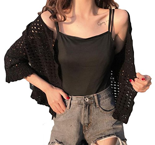 Alppv レディース カーディガン 透かし彫り コート 韓国風 ファッション 可愛い アウター 夏 秋 薄手 冷房対策 トップス