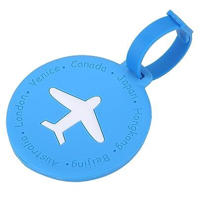 Étiquettes de bagage cartes d'identification de valise de voyages en PVC accessoires antivol anti-perdu de bagages