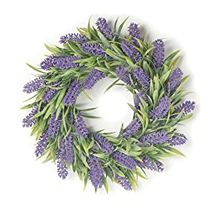 Boston International Janice Lavender Floral 12 Inch Artificial Greenery Decorative Wreath 100