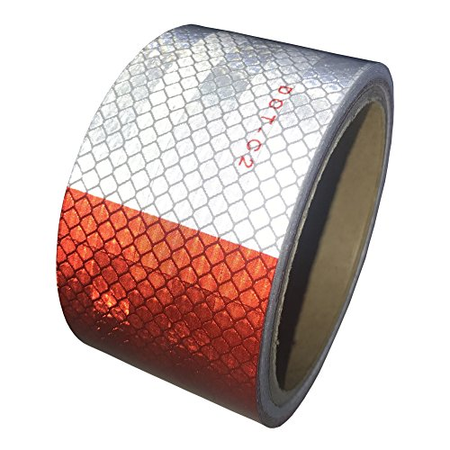 Viewm Reflective Tape for Trailer DOT-C2 Red White Self Adhesive Truck Safety Tape Conspicuity Car Warning Tapes (2 inch x 20 foot) by Viewm
