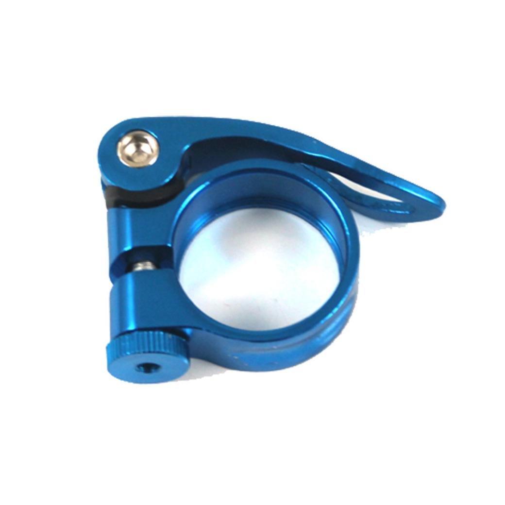 Hunpta 31,8 mm MTB Bike Fahrrad Rad Sattel Sattelrohrschelle Schnellspanner Stil Blau