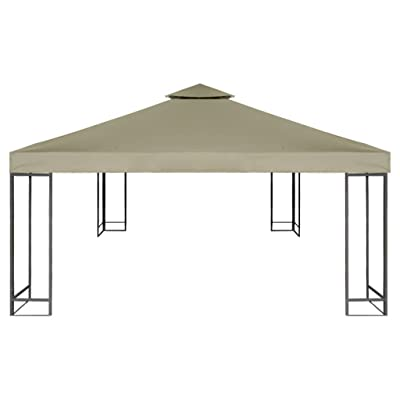 Nishore Gazebo Replacement Canopy Top Cover with PVC Coating (Beige, 10'x10'): Home & Kitchen