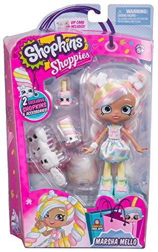 Shopkins Shoppies Dolls Marsha Mello & Pippa Melon With 4