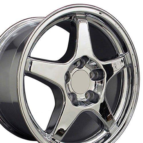 OE Wheels 17 Inch Fits Chevy Camaro Corvette Pontiac Firebird ZR1 Style CV01 Chrome 17x9.5 Rim ()