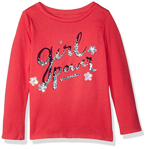 Gymboree Girls Little Long Sleeve Sequin Graphic Tee