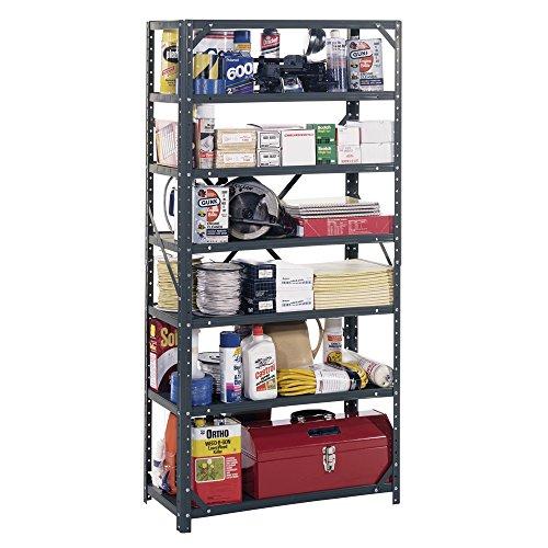 "Edsal HC30127 Steel 7-Shelf Shelving Unit, 750 lb Capacity, 30"" Width x 60"" Height x 12"" Depth"