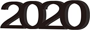 RTMISA 2020 Letter Sign Table Free Standing 2020 Sign for Helloween Decor Graduation Wedding Party Decoration - White