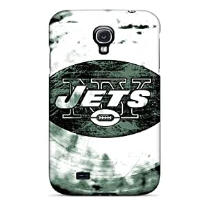 Samsung Galaxy S4 GeJ1786dMky Custom Vivid New York Jets Image Scratch Resistant Cell-phone Hard Covers -IanJoeyPatricia