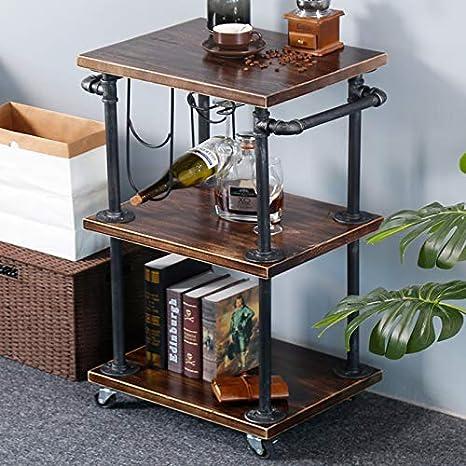 Amazon.com - Industrial 3-Tier Rolling Kitchen Cart, Bar ...