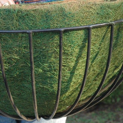 CASE/10 22'' ROUNDED BASKET GREEN LINER (not include Basket Planter) by KIS