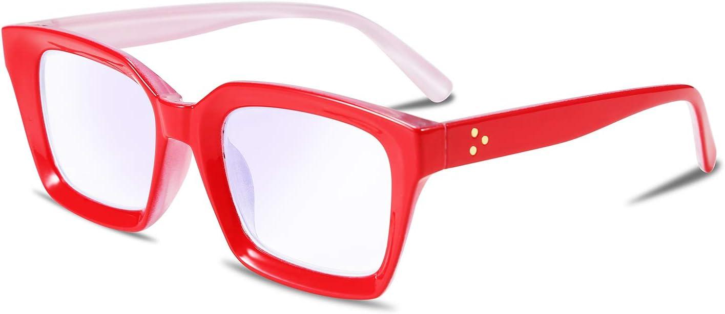 FEISEDY Gafas de lectura multifocales progresivas Gafas de lectura con bloqueo de luz azul B2497