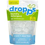 Dropps - Laundry Detergent Pacs 6x Concentrated Scent + Dye Free - 42 Pack(s)