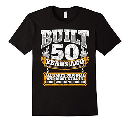 Mens Funny 50th Birthday Shirt B-Day Gift Saying Age 50 Year Joke 2XL Black