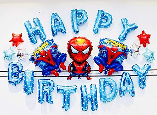 Mesasa Avengers Spiderman Theme Birthday Party Ballon Decoration