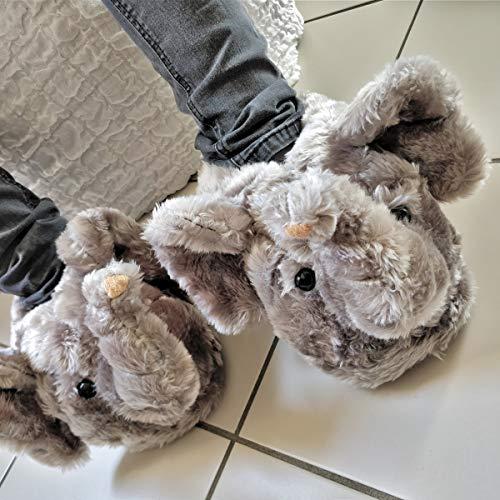Sleeper z - Eléphant - Chaussons Animaux Peluche - Homme Femme Enfant - Cadeau  Original  Amazon.fr  Chaussures et Sacs 68b21d8e4e2