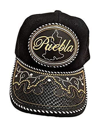 Gorras Vaqueras de Puebla Black at Amazon Men s Clothing store  872046ded86