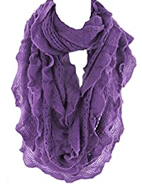 Infinity Scarf for Women by Silver Fever | Fashionable Elegant & Soft Woven | Infinity Loop Figure Eight Endless Scarf Wrap