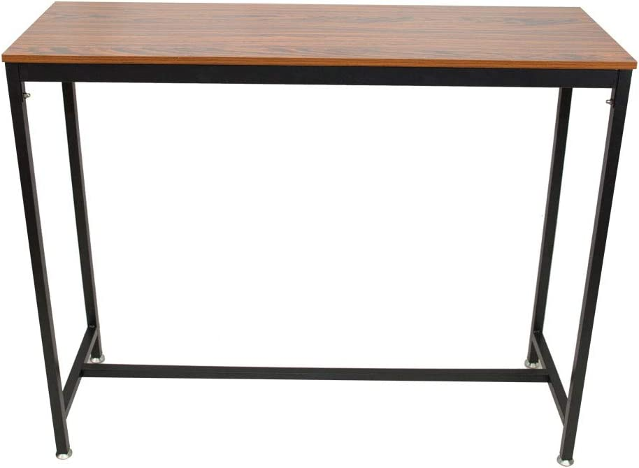 "Auxega Computer Desk Study Writing Table for Home Office Bar Modern Simple Style PC Desk, 47.2"" x 15.7"" x 39.4"", Pub Bars Wooden Table Vintage Rectangular Table with Metal Frame Home Office"