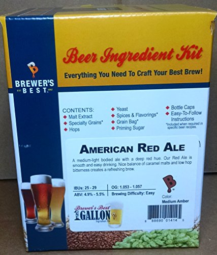 Brewer's Best B011WKPQLO FBA_Does Not Apply One Gallon Home Brew Beer Ingredient Kit (American Red Ale), Yellow (Red Beer Ale)